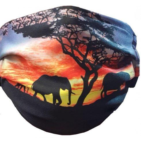 Elefántos 2 rétegű textil maszk.Felnőtt