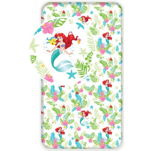 Disney Hercegnők gumis lepedő 90*200 cm Ariel