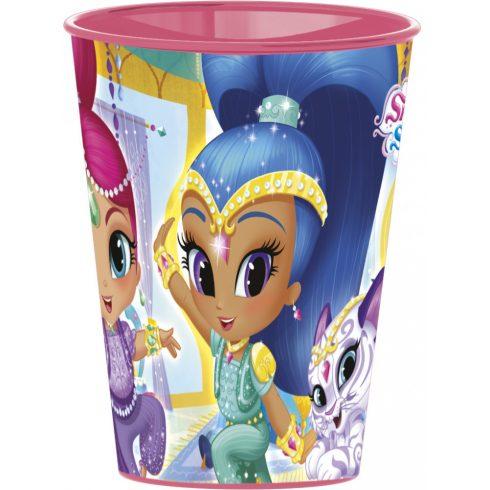Shimmer és Shine pohár, műanyag 260 ml